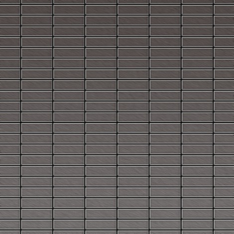 Mosaïque métal massif Carrelage Titane brossé Smoke gris foncé Grosseur 1,6mm ALLOY Cabin-Ti-SB 1,01 m2