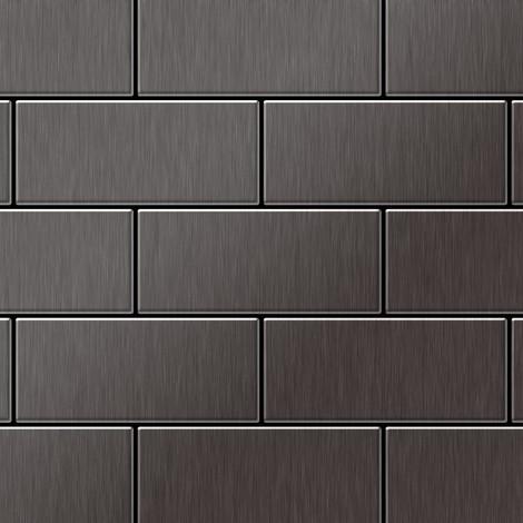 Mosaïque métal massif Carrelage Titane brossé Smoke gris foncé Grosseur 1,6mm ALLOY Subway-Ti-SB 0,58 m2