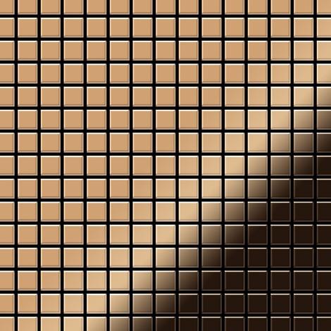 Mosaïque métal massif Carrelage Titane miroir Amber cuivre Grosseur 1,6mm ALLOY Mosaic-Ti-AM 1,04 m2
