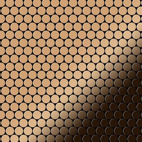 Mosaïque métal massif Carrelage Titane miroir Amber cuivre Grosseur 1,6mm ALLOY Penny-Ti-AM 0,92 m2