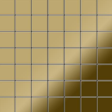 Mosaïque métal massif Carrelage Titane miroir Gold doré Grosseur 1,6mm ALLOY Attica-Ti-GM 0,85 m2