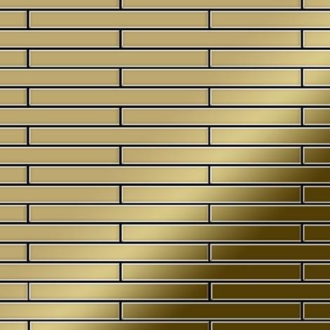 Mosaïque métal massif Carrelage Titane miroir Gold doré Grosseur 1,6mm ALLOY Avenue-Ti-GM 0,74 m2