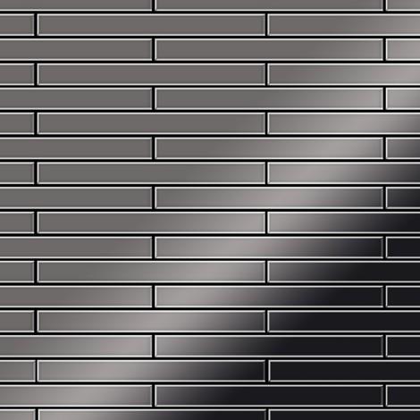 Mosaïque métal massif Carrelage Titane miroir Smoke gris foncé Grosseur 1,6mm ALLOY Avenue-Ti-SM 0,74 m2