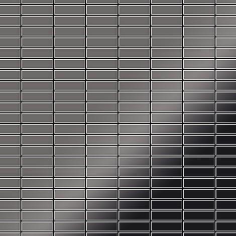 Mosaïque métal massif Carrelage Titane miroir Smoke gris foncé Grosseur 1,6mm ALLOY Cabin-Ti-SM 1,01 m2