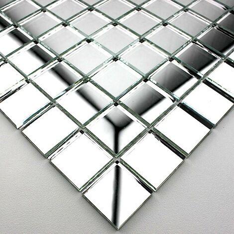 mosaique miroir pour douche et salle de bain Optic neutre