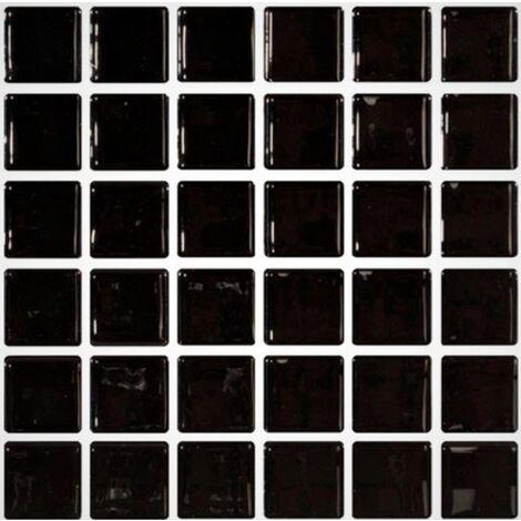 """main image of """"Mosaique noire 5x5 sur trame 30.7x30.7 NEGRO A-11 - 2 m²"""""""