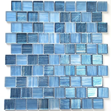 mosaique pas cher en verre pour mur et sol mv-drio-bleu