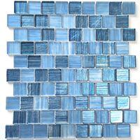 Mosaique Pas Cher En Verre Pour Mur Et Sol Mv Drio Bleu