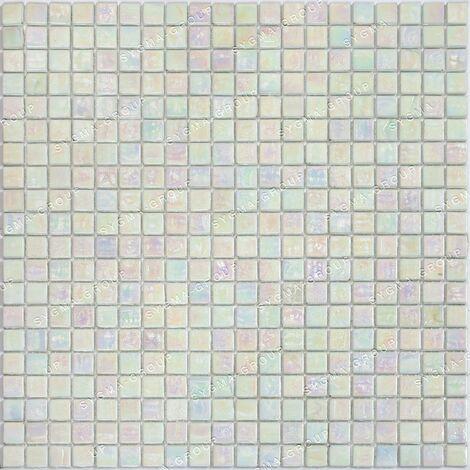 Mosaique pâte de verre mur et sol Imperial Blanc