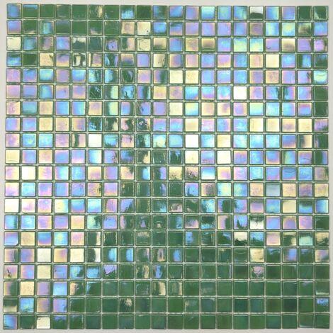 Mosaique pate de verre mur et sol Imperial Vert