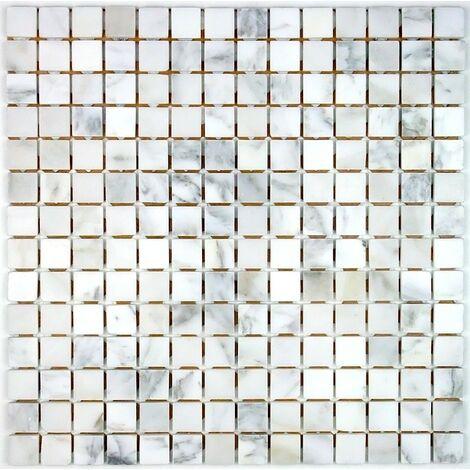 Mosaique pierre carrelage pierre Nizza Blanc