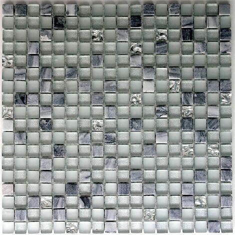 Mosaique pierre et verre salle de bain mvp-bolivar