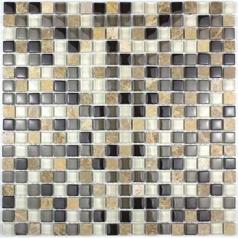Mosaique pierre et verre salle de bain mvp-maggiore