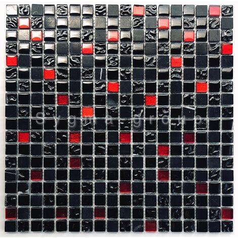 Mosaique pierre et verre salle de bains Agati