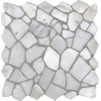 Mosaïque pierre naturelle Crush - 30x30x0.8cm - Bianco Carrara