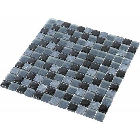 Mosaïque Pierre / Verre - Black - 2.3 x 2.3 cm