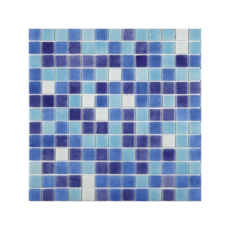 Mosaique pisc e mix de bleu et blanc 7524 JAEN 31.6x31.6 cm - 2 m² - IN
