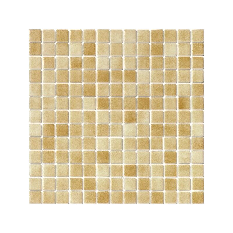 Mosaique pisc e Nieve beige ocre orangé 3008 31.6x31.6 cm - 2 m² - IN