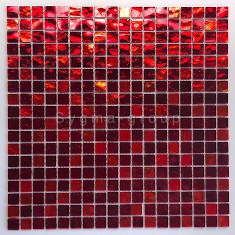 mosaique pour mur et sol en verre Gloss rouge