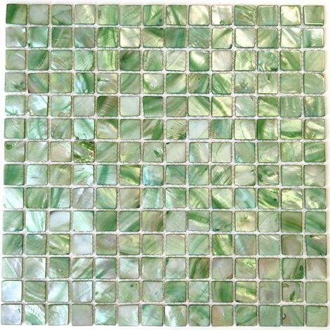 mosaique salle de bain et cuisine en nacre Nacarat Vert