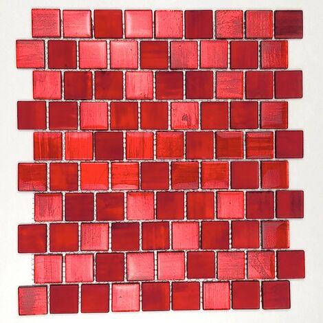 Mosaique salle de bain et cuisine mv-drio-rouge