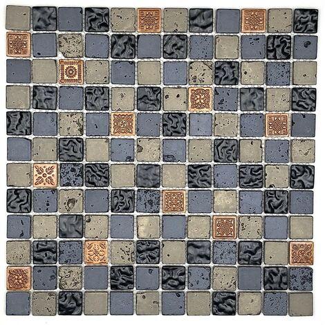 Mosaique salle de bain et douche mvp-met-noir