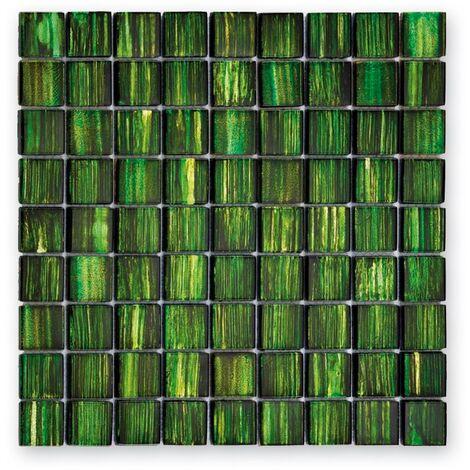 Mosaique salle de bain GL-13001 Jewelry vert émeraude 3x3 cm - 30x30 - unité