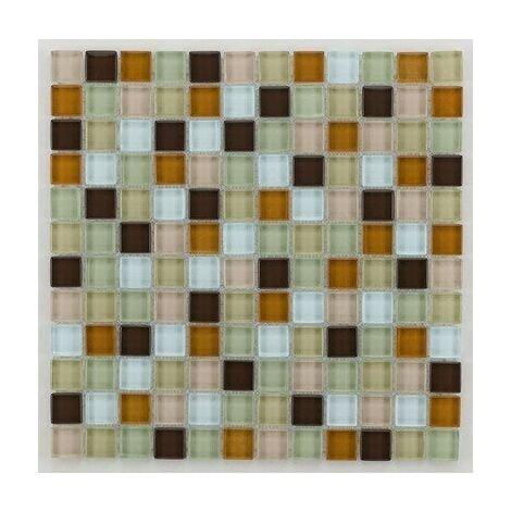 Mosaique salle de bain Glasmosaik beige 2.3x2.3 cm - 30x30 - unité