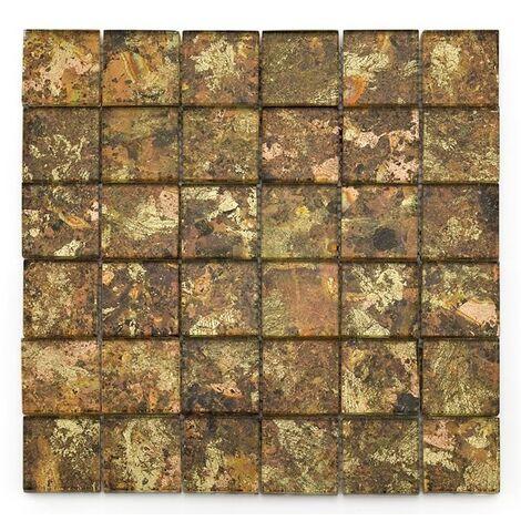 Mosaique salle de bain Glasmosaik dorée 4.8x4.8 cm - 30x30 - unité