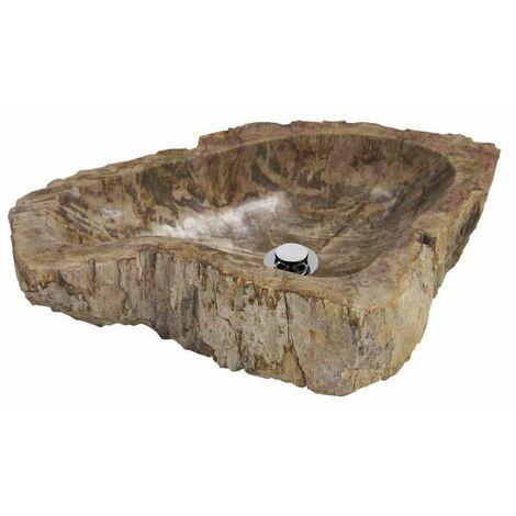 MOSAVIT JUMBO Lavabo Sobre Encimera De Piedra Marrón