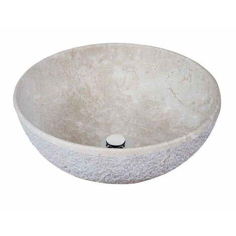MOSAVIT MENORCA Lavabo Sobre Encimera De Piedra Beige