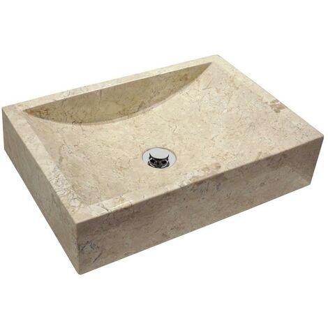 MOSAVIT NERJA Lavabo Sobre Encimera De Piedra Beige