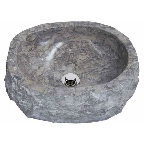 MOSAVIT PADAR Lavabo Sobre Encimera De Piedra Gris