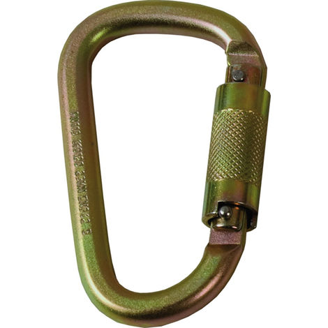 Moschettone a pera sicurezza sekuralt 982 in acciaio chiusura automatica 23 mm