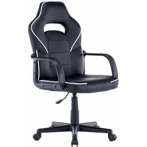 Moscow Black Office Chair with Armrests and Adjustable Seat Height