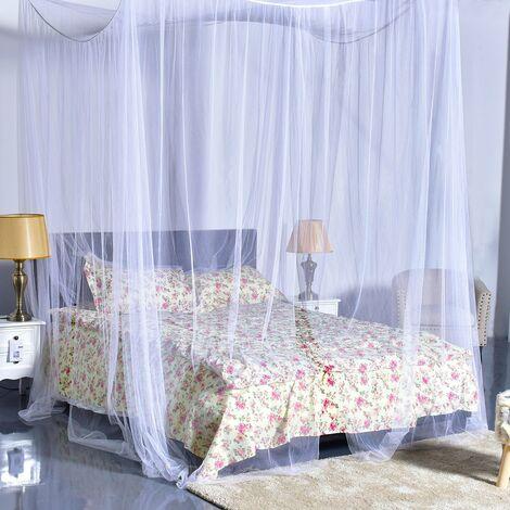 Moskitonetz Betthimmel Mückennetz Baldachin Bettdekoration 220x200x210cm