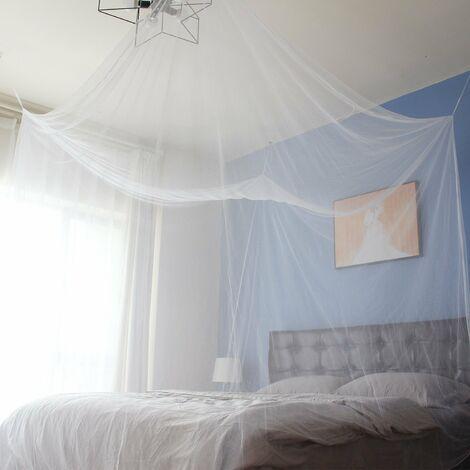 Moskitonetz für Einzelbett/Doppelbett, kastenform 220 X 200 X 200cm | Mesh Insektennetz mit Schnelle und Einfache Installation