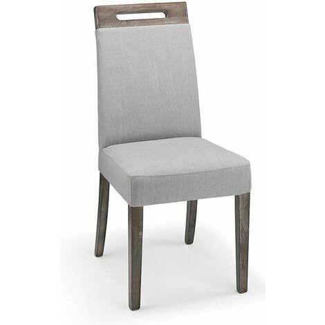 Mosoni Grey Fabric Seat Kitchen Dining Chair Wooden Frame Fully Assembled Grey