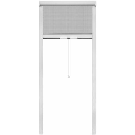 Mosquitera blanca enrollable para ventanas, 60 x 150 cm