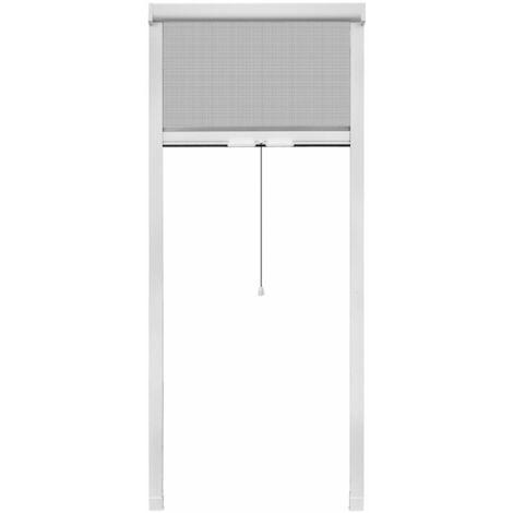 Mosquitera blanca enrollable para ventanas, 80 x 170 cm