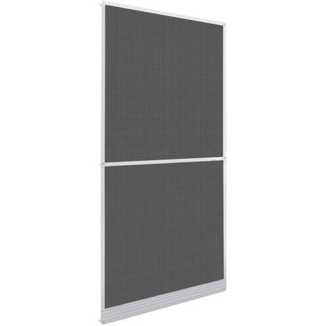Mosquitera con bisagras para puertas blanca 100x215 cm
