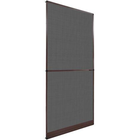 Mosquitera con bisagras para puertas marrón 100x215 cm