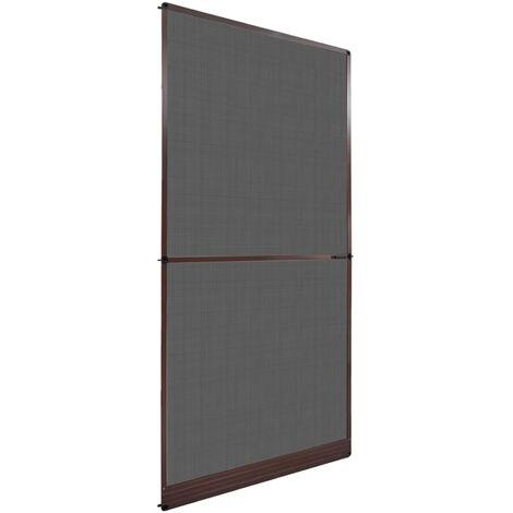 Mosquitera con bisagras para puertas marron 120x240 cm