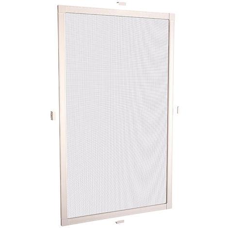 Mosquitera con marco de ventana blanco