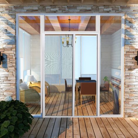 Mosquitera corredera para puertas blanca 120x215 cm