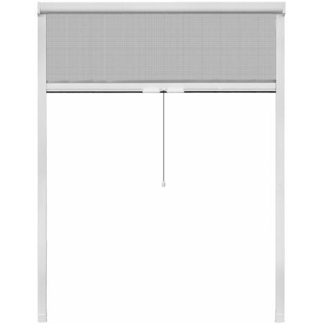 Mosquitera corredera para ventana blanca 140x170 cm
