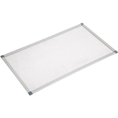 Mosquitera de aluminio para tragaluz - tela mosquitera con marco de aluminio, mosquitero translúcido para cortar a medida, malla mosquitera transpirable para casa - gris