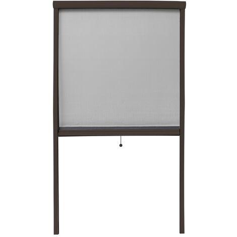 Mosquitera enrollable 90 x 160cm marrón mosquitera fibra vidrio ventana puerta