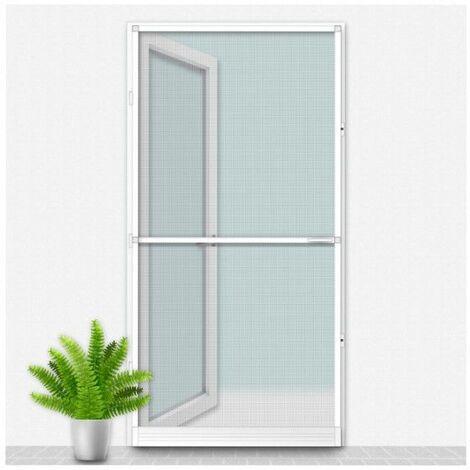 Mosquitera Louisiana CONFORTEX sobre marco de puerta - 100 x 215 cm - Blanco - Blanc