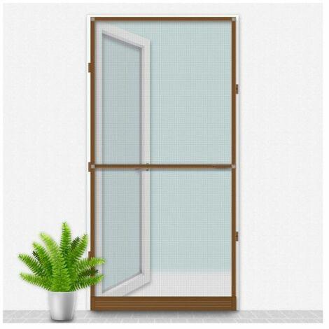 Mosquitera Louisiana CONFORTEX sobre marco de puerta - 100 x 215 cm - Marrón - Marron